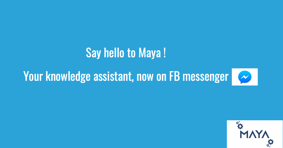 Handpicked image for the blog Chatbot Maya is now on Messenger